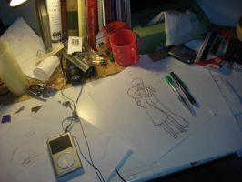 The Cute Drawing: In Progress by beccaecka