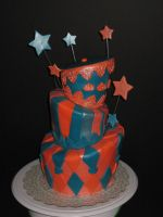 Topsy Turvy cake by Angiescakes