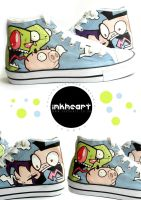 Space Invader Zim High Tops by felixartistixcouk