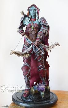 Sylvanas Windrunner sculpture. by HiddenTreasury