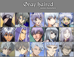 Gray haired anime characters by jonatan7
