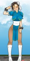 Chun Li Take it off girl by JagoDibuja