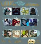WOLF's 2014 art summary by TheWolfMadness