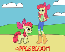 Two Apple Blooms by equestriaguy637