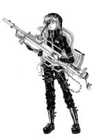 girl with a gun by zuzi-chan