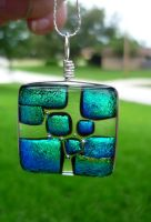 Clearly Emerald Fused Glass by FusedElegance