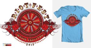 Riot Fest Music Festival Shirt 2 by reyjdesigns
