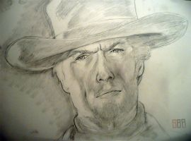 Clint A3 sketch by rickystinger88