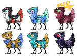 Pinnipard Adoptables + FREE RAFFLE! (CLOSED!) by ProudRyukin13