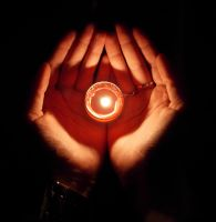 616 - candle hands by WolfC-Stock