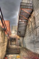 Dark Alley Light Surreal HDR by RavenA938