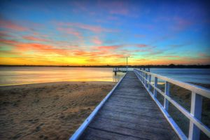 Barwon Heads Pier Sunrise by DanielleMiner