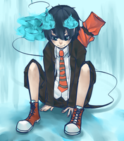 blue exorcist by sharkyyyy