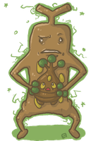 Sudowoodo and Bonsly by oober-zombie