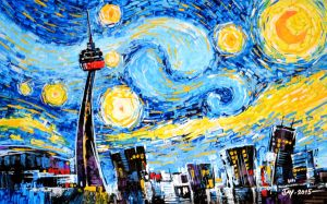Starry Night in Toronto by Abstractmusiq