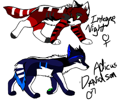 Adicus Davidson and Integer Night (RxZ pups) by Rallie-Redwolf