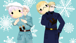 MMD Hetalia - Finny, Su-san and their dolls by PikaBlaze