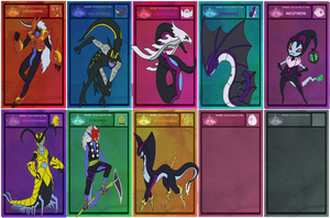 All Armor Digivolutions by Immortal-Wenz
