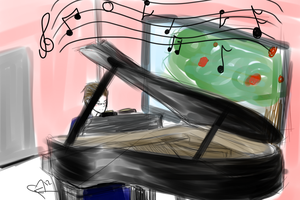 30 days to better art-Day 2 - Austria at his Piano by destituteAnatidae