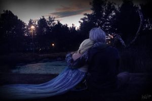 [Frozen x ROTG] Jack Frost x Elsa by Cosplay-Kuro