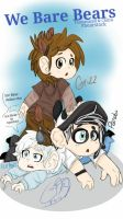 We Bare Bears Chibis by CocoaDeSi
