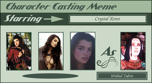 Character Casting Meme by bellaknoti