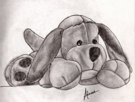 Plush toy dog by raidan1280