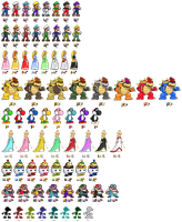 1st Row of SSB4 Characters + Palettes by Lisnovski