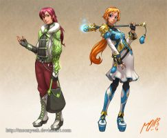 CharaDesigns Magic HighSchoolers by MoonYeah