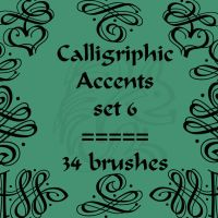 Calligriphic Accents 6 by rL-Brushes