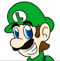 Luigi Eyebrow Wiggle GIF by MC-Ash-Tray