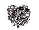 Paisley heart, original doodle by TheSilhouett3