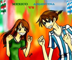 Mexico vs Argentina by Zoehi