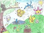 Pokemon in the wild! by PokemonArteest