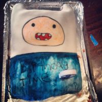finn Birthday Cake by MimiTheFox