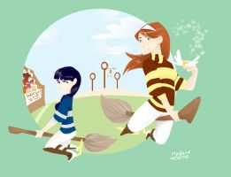 Ginny vs. Cho by quite-possibly
