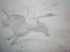 The Uniboar by FloofyWhiteWolf