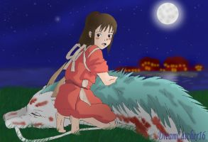 :Spirited Away:Moonlit Dragon: by DreamCatcher16