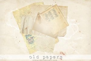 Textures: Old papers by szkui