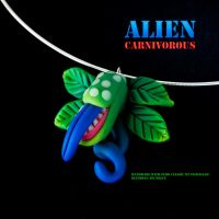 Alien Carnivorous Necklace by pongojam