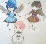 Bird Girl Adoptables!One left! by Honey-Hime