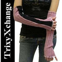TX Pink Ribbed Arm Warmers by TrixyXchange