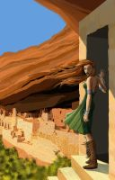 Mesa Verde and a girl by LazarusReturns