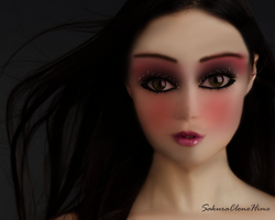 Black hair  A human transferred to doll by SakuraCloneHime