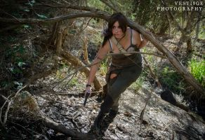 Lara on the hunt by fiery-dragon