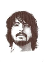 Dave Grohl Pen Portrait by Craig-Stannard