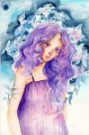 Curly Purple by Silent-Flowers