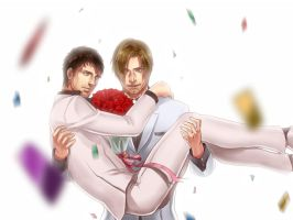 [Resident Evil]Getting married!(Colour ver.) by eilinna