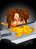Squall FF VIII Color by ZellvanTheFirst