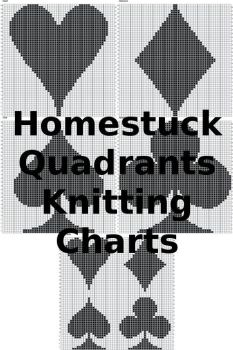 Homestuck Quadrants Knitting Charts by Aretemc